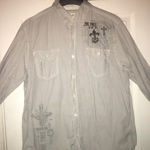 ROUTE 66 long sleeve casual button down